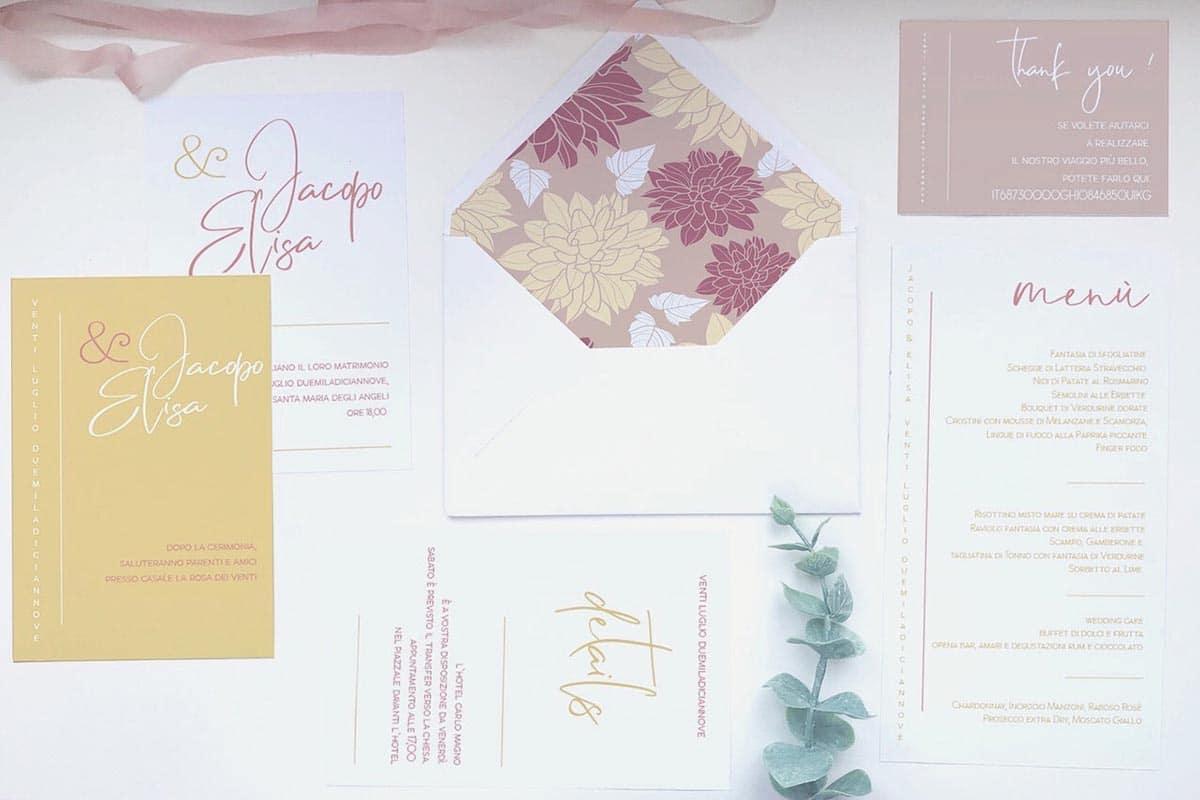 interno busta partecipazioni nozze - accessori