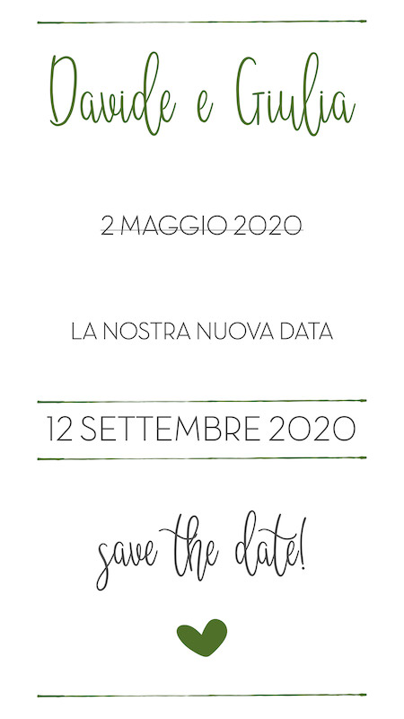 save the date digitale