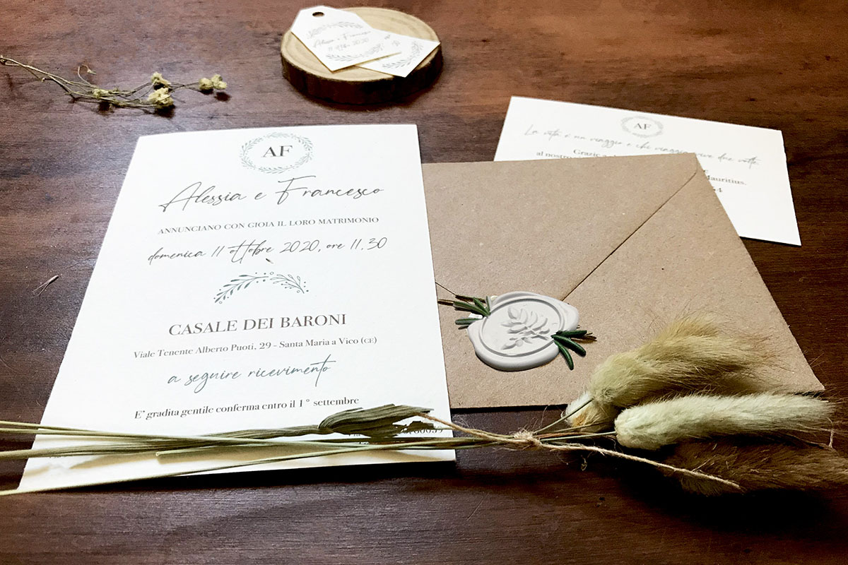 wedding stationery country chic