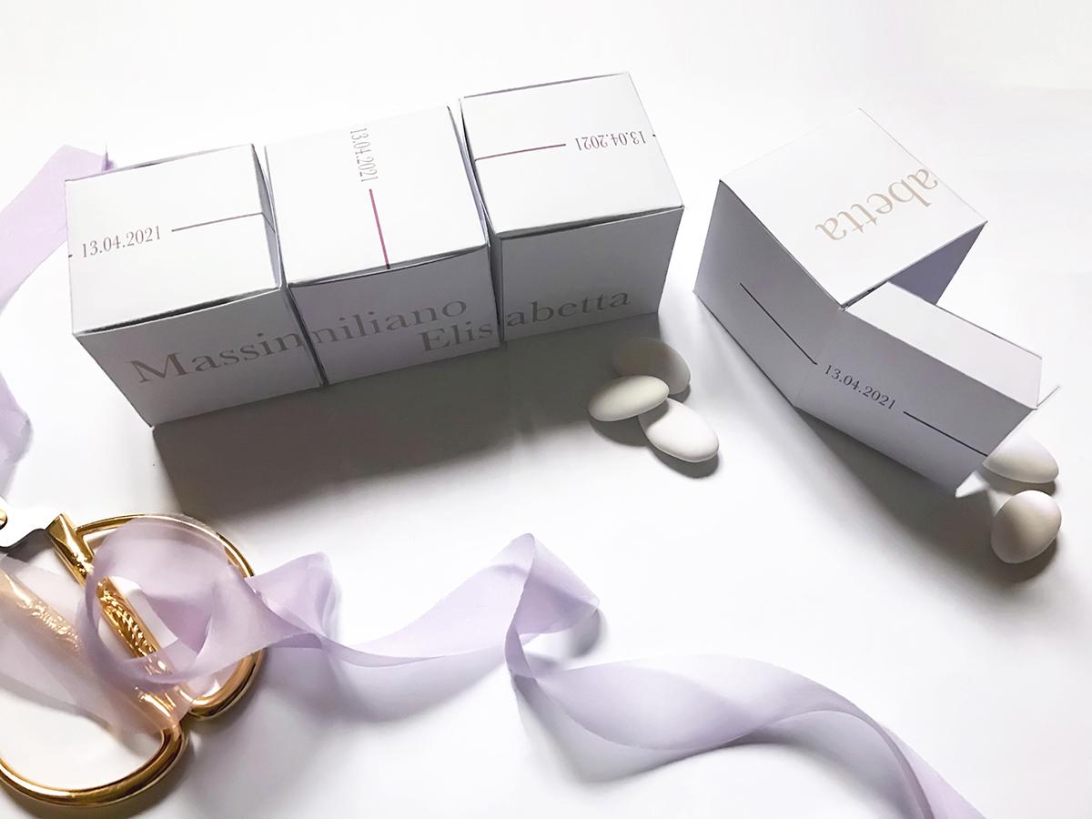 scatoline confetti in coordinato